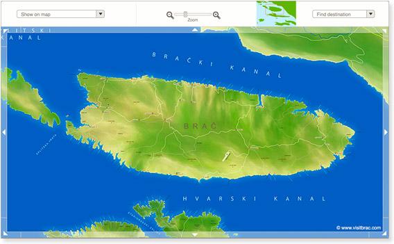 Insel Brač Karte